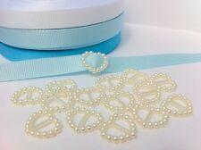 50 Perle Perline Cuore Fibbia MULTIFUNZIONE CARRELLI 17x15mm