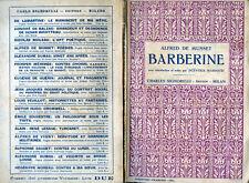 """ALFRED DE MUSSET  """" BARBERINE  """" avec introduction et notes par SCEVOLA MARIOTTI"""