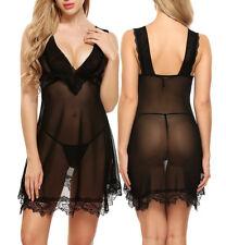 2018 Women Sexy Lingerie V Neck Robes Dress Sleepwear Underwear Valentines Gift