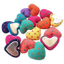20 un. Irregular Lunares Corazón Adornos cubierto de tela Flatback Craft