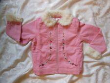 Gymboreep PARK CITY LUXE Pink Corduroy Faux Fur Trimmed Jacket Coat NWT 5 6