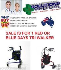 DAYS TRI WALKER 3 WHEEL WALKER MOBILITY AID RED BLUE