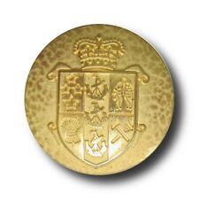 5 edle goldfarbene Wappen Metall Knöpfe z.B. für Blazer (0948go)