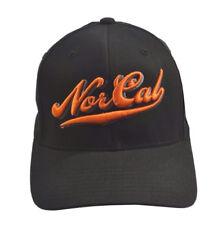 79105b18290f7 Nor Cal DUGOUT Black Orange Embroidered Graphic Logo Men s Baseball Cap Hat