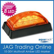 10V-30V 8-LED AMBER SIDE MARKER LIGHT/CLEARANCE LAMP - Boat/Trailer/Truck/RV BL