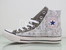 Converse all star grigio charcoal  pizzo + glitter argento artigianali