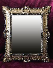 Miroir mural Miroir rectangulaire Or Noir REPRO 45x38 ANTIQUE BAROQUE répliques