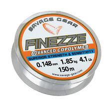 SAVAGE GEAR Finezze Mono Clear 150m/300m Advanced Copolymer Angelschnur Sehne