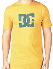 DC  T-Shirt STAR ockergelb/petrol mit Druck Herren NEU