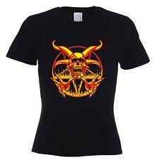 PENTAGRAM SKULL T-SHIRT - Goth Gothic Pagan Magick Satan Satanic - S to XL