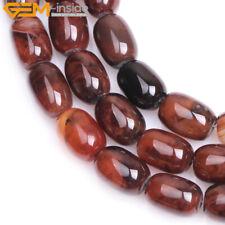 "Columnar Barrel Natural Agate Tube Cylinder Stone Beads For Jewlry Making 15"""