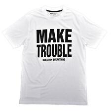 Hamnett Make Trouble T-Shirt in White Katherine Hamnett SAVE THE WORLD