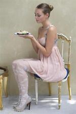 Bonnie Doon Strumpfhose Floral Lace Fb. off white und white Gr. S-XL