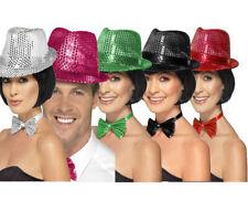Sequin Trilby Hat Ladies Showgirl 1920s Butlins Style Fancy Dress Hat