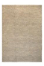 tissés à la main Tapis Tapis poils ras FAIT MAIN 100% laine beige / marron