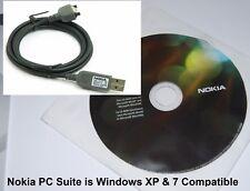 Genuine Nokia CA-53 USB Data Sync Cable & Software CD ROM para teléfonos Nokia