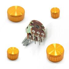 STEREO/DUAL Potenziometro ohm Lin B MIXER Volume e Tono Oro in Alluminio Coppa