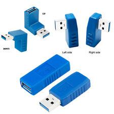 De alta velocidad USB 3.0 Tipo A Macho a Hembra Conector Convertidor Adaptador de enchufe en ángulo