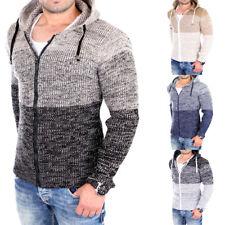 Reslad a maglia-Giacca uomo color-block Look Con Cappuccio Cardigan Giacca rs-3109