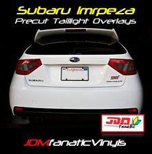 STi Taillight Overlays w/ Smoked Reverse & Blinker Hatchback RED TINT Vinyl JDM