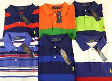 Polo Ralph Lauren SS Multi Striped 100% Cotton Mesh Polo Shirt 6 Colors  $89 NWT