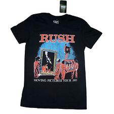 RUSH MOVING PICTURES UFFICIALE CLASSIC NERA Alex Geddy Neil T-Camicia a XXL 12E
