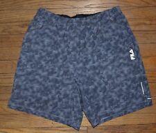 Fila Sport Trudry Running Shorts Mesh Pockets Quick Dry Alloy Gray Mens Short