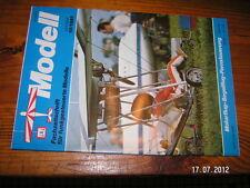 MODELL revue modélisme avion en allemand 10/1985