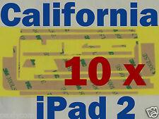 Lot 10pcs x Apple iPad 2 LCD Adhesive Sticker Touch Screen Repair Digitizer 3M