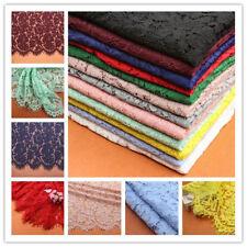 12 couleurs MARIAGE tissu dentelle 150cm BRODERIE FIL pour mariée 1.5 m