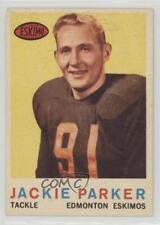 1959 Topps CFL #43 Jackie Parker Edmonton Eskimos (CFL) Rookie Football Card