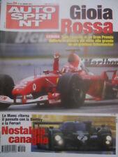 Autosprint 24 2003 Canada: vince un grintoso Schumacher. McLaren MP4-18 sc5
