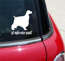 GOT ENGLISH COCKER SPANIEL? SPANIEL DOG GRAPHIC DECAL STICKER ART CAR WALL DECOR