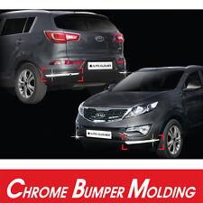 Chrome Bumper Moulding Protector Garnish Cover 4p  For 2011-2015 Kia Sportage