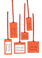 10 TAG - cartellini - bigliettini per bomboniere matrimonio battesimo ARANCIONE