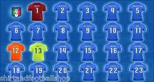 Maglia ITALIA Calcio Nazionale Con Nome Numero a Richiesta Mondiali Brasile 2014