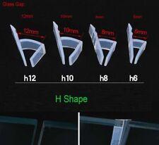 H-Shape Shower Door Bath Screen Seal Strip | 6-12mm Thickness Curved Flat Glass