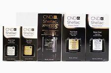 CND Shellac Authentic UV Gel Base Coat, Top Coat , Xpress Top Coat 7.3 ml 15 ml