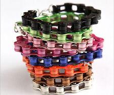 Wholesale NEW 14 Colors  Punk Metal Bicycle Chain Bracelet Fluorescent Bracelet