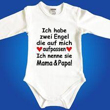 Baby Strampler Body - Engel sind Papa Mama Oma Opa Onkel Tante - Frei wählbar
