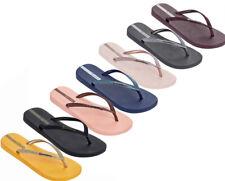 Nuevo Sandalias ojotas de brillo chispa Ipanema Playa Oro Negro EU36-41 UK3-8