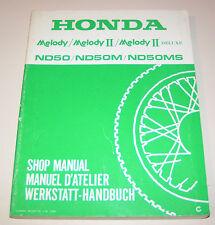 Werkstatthandbuch Honda Melody ND 50 / ND 50M / ND 50MS - Stand 1982!