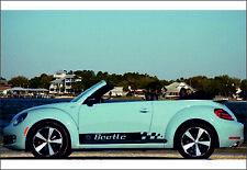 Volkswagen Beetle 2x side stripes vinyl graphics body decals sticker emblem logo