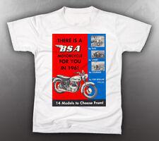 VINTAGE BSA 1961 BROCHURE TEE-SHIRT LIKE NOS
