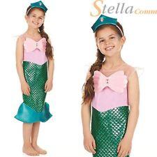 Child Little Mermaid Princess Girls Kids Book Week Fancy Dress Costume