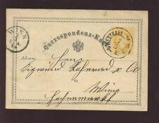 Autriche 1873 début Papeterie Carte Wien gare