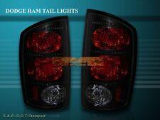 2002-2006 DODGE RAM 1500/2500/3500 TAIL LIGHTS DARK SMOKE 2003 2004 2005