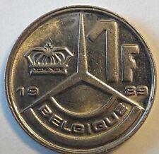 Pièce 1 Franc Frank Belgïe Belgique Baudouin 1989,1990,1991,1992,1993