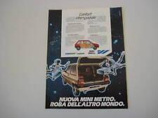 advertising Pubblicità 1981 LEYLAND MINI METRO
