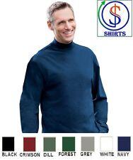 D420 Devon & Jones Sueded Cotton Jersey Mock Turtleneck Long Sleeve Shirt S-4XL